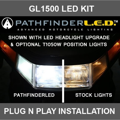 SoCalMotoGear KWLEDKT Headlight Kit