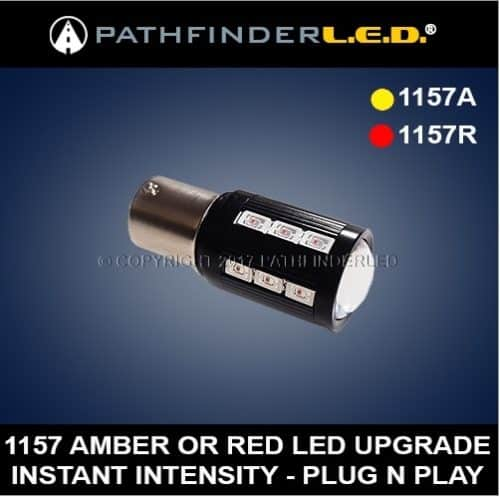 1157 Extreme Bright LED Red or Amber