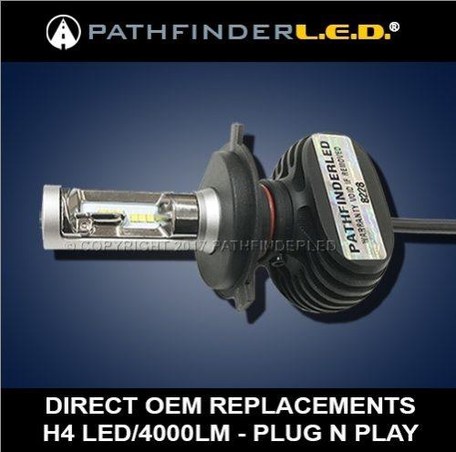 H4 Rugged (4000LM) LED Bulb - Plug N Play