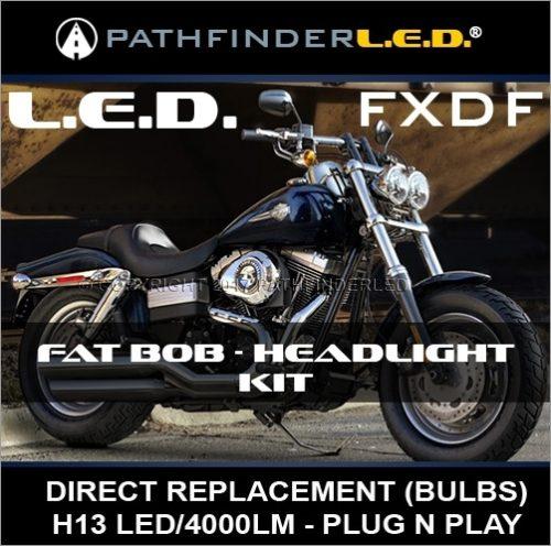 LED HEAD LIGHT KIT FOR DYNA FAT BOB [FXDF]